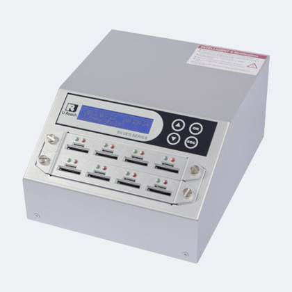 i9 SD micro-SD duplicator - u-reach sd908s intelligent 9 silver sd micro-sd memory card duplicator
