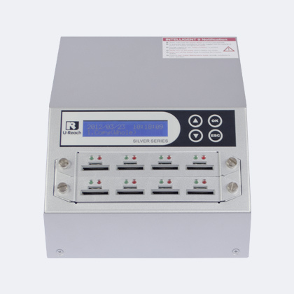 Ureach SD micro-SD Silver - u-reach sd908s intelligent 9 silver sd micro-sd memory card duplicator