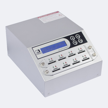 U-Reach i9 SD duplicator - u-reach sd908s intelligent 9 silver sd micro-sd memory card duplicator